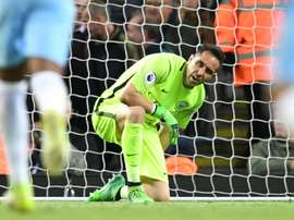 4209be03dc Manchester City's Chilean goalkeeper Claudio Bravo. AFP