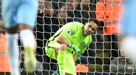 Manchester City's Chilean goalkeeper Claudio Bravo. AFP