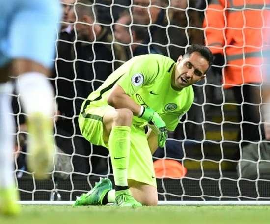 Manchester City's Chilean goalkeeper Claudio Bravo. AFP