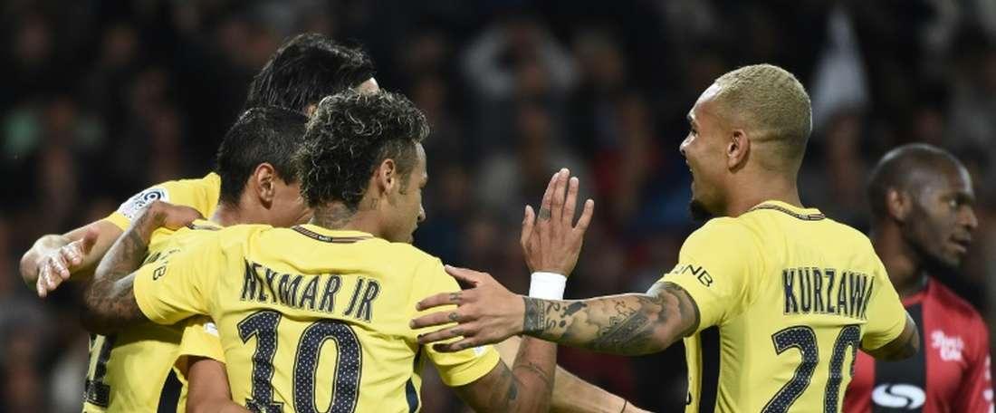 Le PSG de Neymar a ramené un succès probant de Guingamp. AFP