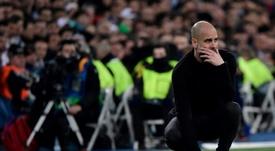 Guardiola habló de la eliminatoria de vuelta ante el Real Madrid. AFP