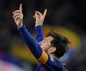 Calleri a évoqué l'éventuelle absence de Messi. AFP