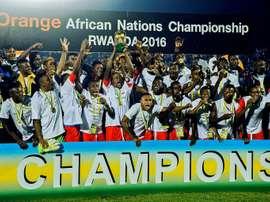 La RD Congo championne en titre du CHAN-2016 à Kigali, le 7 février, ne défendra pas son titre. AFP