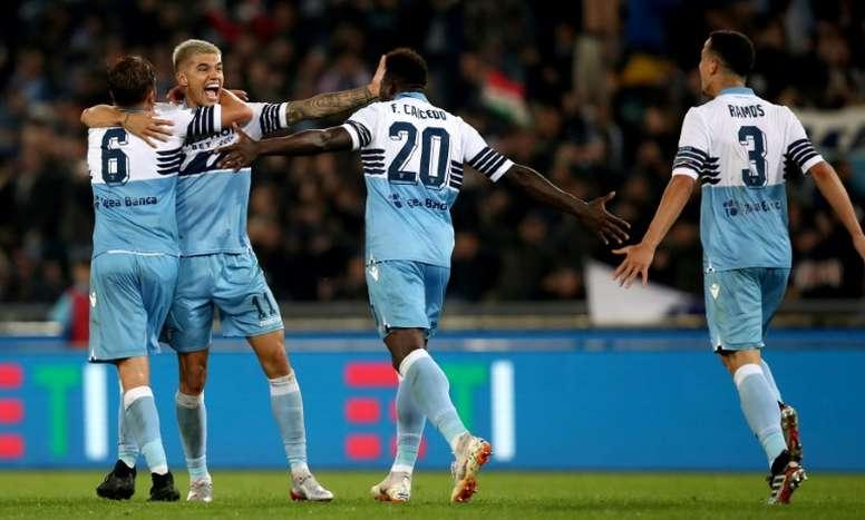 Milinkovic-Savic y Correa le dieron la Coppa a la Lazio. AFP
