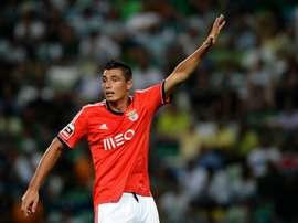 Le Paraguayen Oscar Cardozo lors du derby de Lisbonne entre son club Benfica et le Sporting, le 31 août 2016