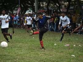La beauté du football. AFP