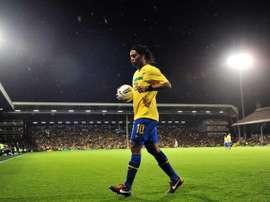 Ronaldinho já se aposentou do futebol. AFP