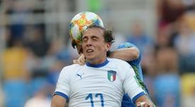 Officiel : la Juve prête Luca Pellegrini au Genoa. AFP
