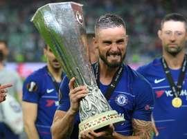 Giroud por aparecer na Inter de Milão. AFP