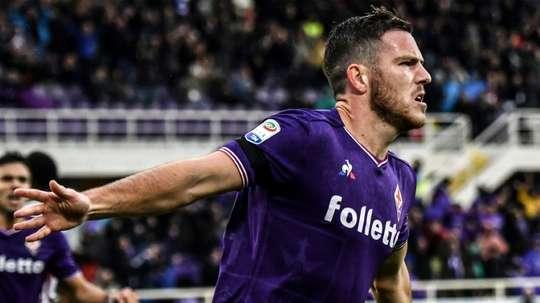 Le milieu français de la Fiorentina, Jordan Veretout. AFP