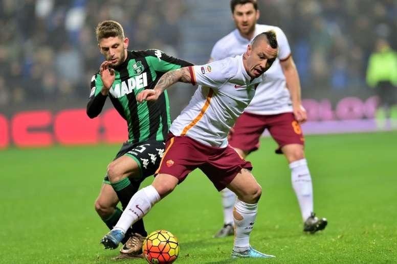 Domenico Berardi pourrait atterrir en Lombardie. AFP