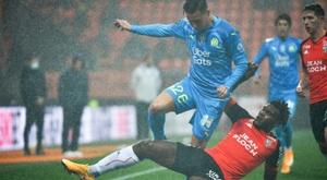 Villas-Boas content de la victoire à Lorient. AFP