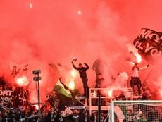 Les tribunes des supporters de l'ASSE suspendues deux matches. AFP