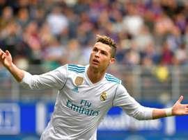 Cristiano a marqué un quadruplé. AFP