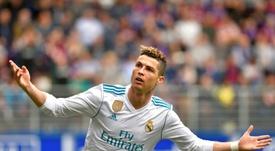 Cristiano Ronaldo não pára de marcar. AFP