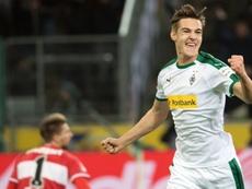 Florian Neuhas buteur lors de la victoire à domicile 3-0 face à Stuttgart. AFP