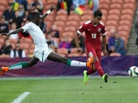 Afif es una de las estrellas de su Selección. AFP