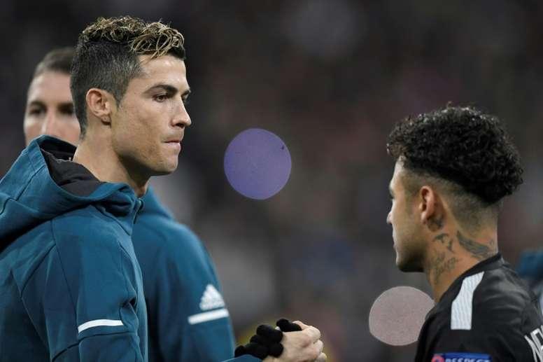 Cristiano Ronaldo souhaiterait la bienvenue à Neymar à Turin. AFP