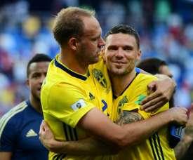 Granqvist a inscrit le penalty de la rencontre. AFP