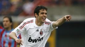Kaká convenció al Madrid brillando en el Milan. AFP/Archivo