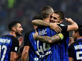 O Inter recebeu e venceu o Chievo por 5-0. AFP