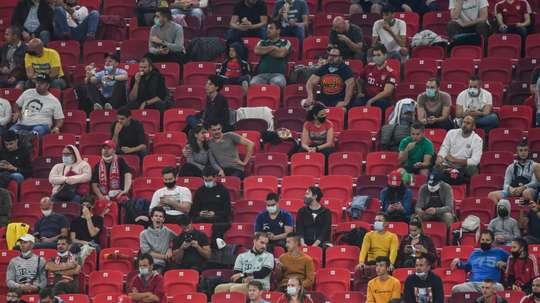 Entre joie et prudence, les fans retournent enfin au stade. afp