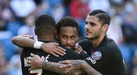 Mauro Icardi não poupou elogios a Kylian Mbappé e Neymar. AFP/Arquivo