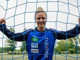 L'Allemande Svenja Huth, veut la jouer comme Birgit Prinz. AFP