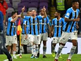 O Grêmio surge na terceira posição do ranking. AFP