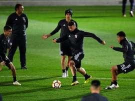 Les joueurs de River Plate préparent la finale contre Boca Juniors. AFP