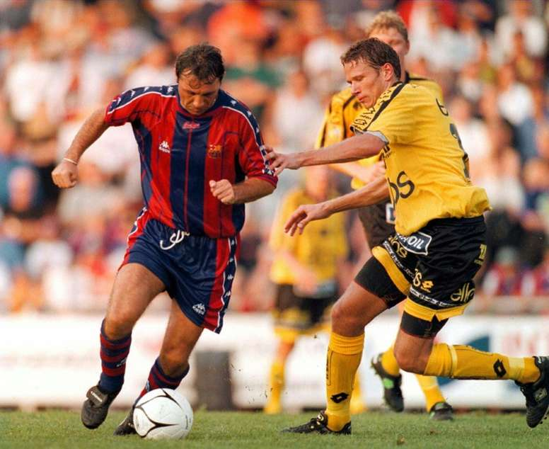 Stoichkov scored 162 goals in 336 games during an eight-year stay at the Camp Nou. AFP