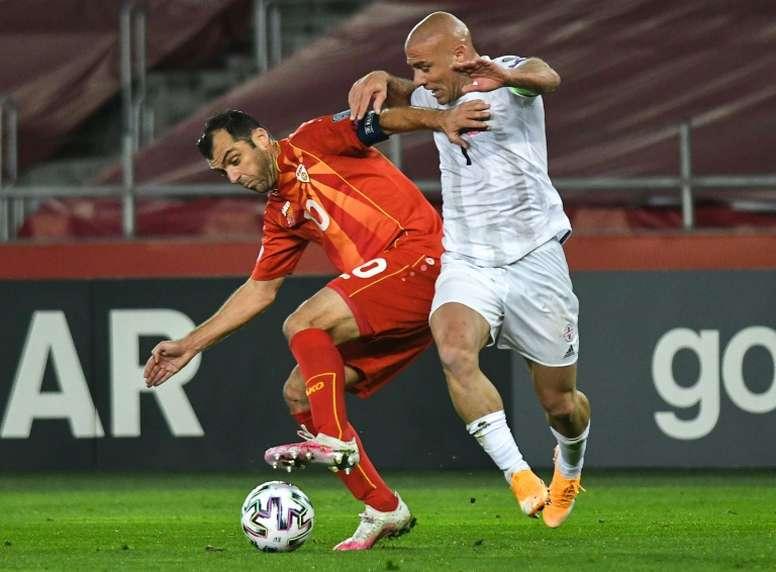 La Macédoine du Nord qualifiée pour l'Euro-2020, 1er grand tournoi de son histoire. afp