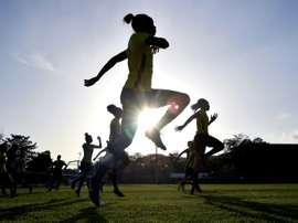 Un entraînement des Reggae Girlz au St. Georges College de Kingston. AFP