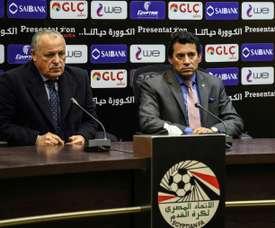 Conférence de presse conjointe du patron de la fédération égyptienne. AFP