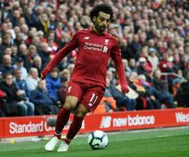 Salah scored his 35th goal in 38 Anfield appearances. AFP