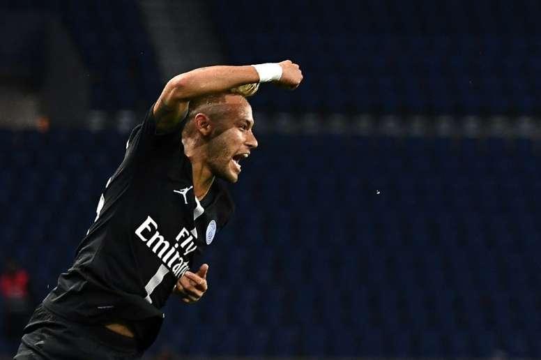 Neymar vem se destacando no inicio da temporada do PSG. AFP