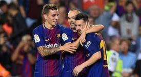 Iniesta alabó a Messi y habló de otros futbolistas argentinos. AFP
