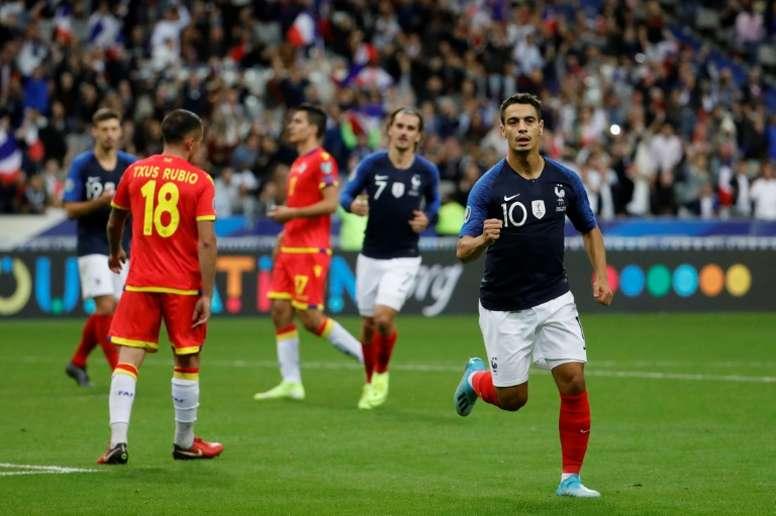 Ben Yedder et Lucas Hernandez titulaires contre la Turquie. AFP