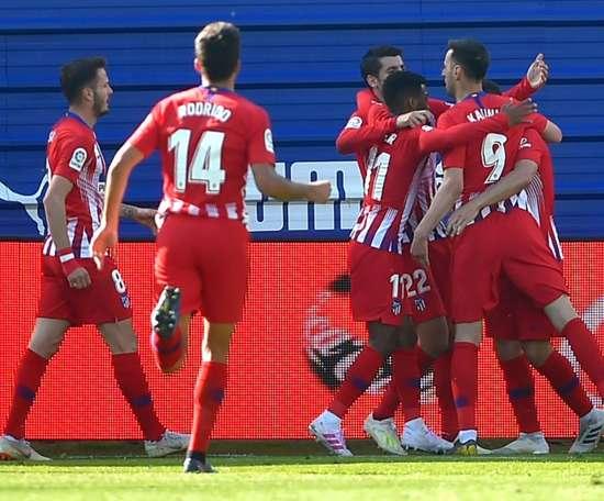 Lemar a donné la victoire à l'Altético de Madrid à Eibar. AFP