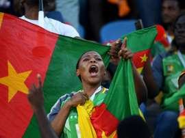 Supportrice du Cameroun lors du match de phase de groupes de la CAN face au Bénin. AFP