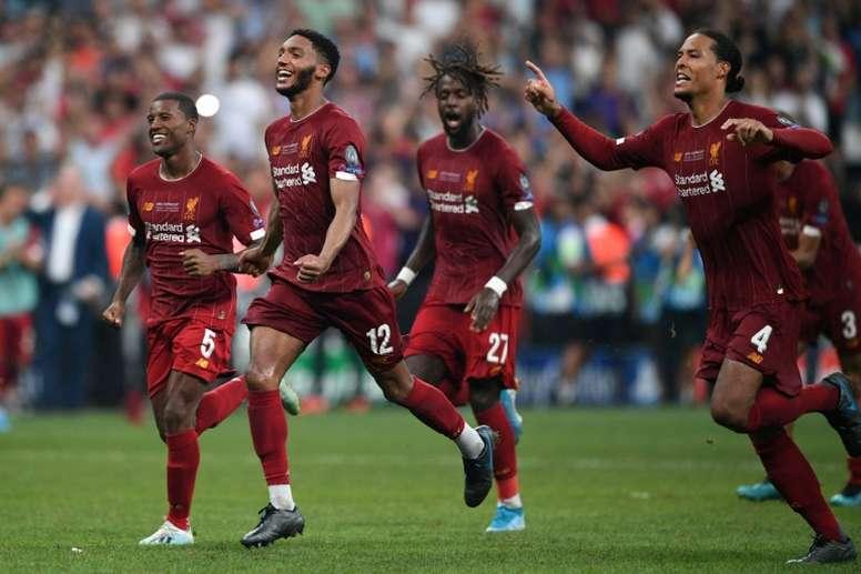 Liverpool conquista a Supercopa da Europa pela quarta vez. AFP