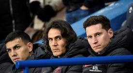 Paredes dijo que a Cavani le gustaría jugar en Boca. AFP