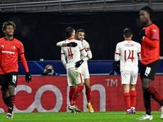 Rennes rate sa sortie, battu 3-1 par Séville. AFP