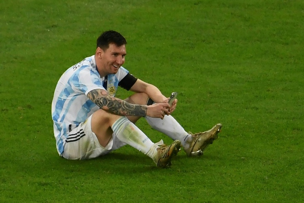 Messi revive con Whatsapp la llamada tras ganar la Copa América. AFP