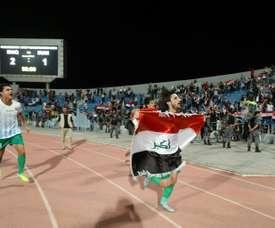 Pour les Irakiens, un message à l'Iran plus qu'une simple victoire au foot. AFP
