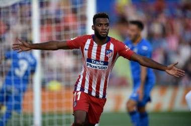 Lemar empieza a demostrar su valía en el Atlético. AFP
