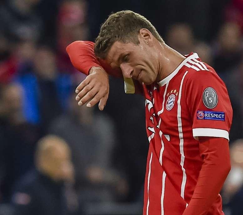 Müller, en la punta de ataque del Bayern. AFP