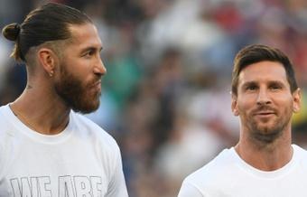 Sergio Ramos todavía no ha podido debutar con el PSG. AFP