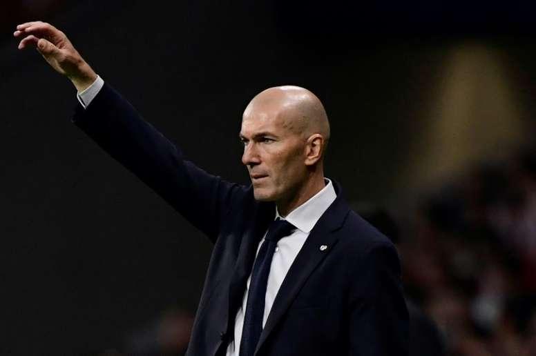 O novo romance de Zidane. AFP
