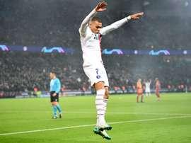 Kylian Mbappé ne veut pas parler du Real Madrid. AFP